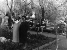 Одесса. Фонтан в сквере на площади Советской Армии. Начало 1970-х гг.