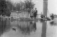Черноморская кинофабрика. Декорация фильма «Копозитор Глинка». Апрель, 1951 г.