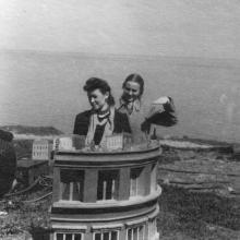 Черноморская кинофабрика. Декорация фильма «Композитор Глинка». Апрель, 1951 г.