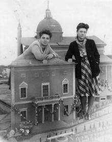 Черноморская кинофабрика. Декорация к фильму. Апрель, 1951 г.