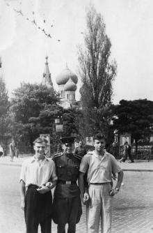 В Пушкинском сквере. Одесса. 1959 г.