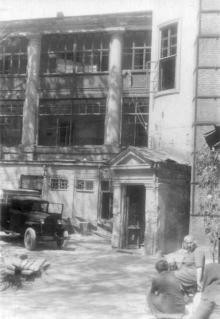 Колодезный пер., 2, бывшая гостиница «Франция». Фото А.О. Лисенко. 1950-е гг.