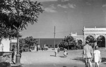 Спуск из парка Шевченко на Ланжерон. Одесса, конец 1930-х годов