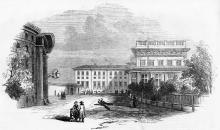 Одесса. Воронцовский дворец. Гравюра. 1854 г.