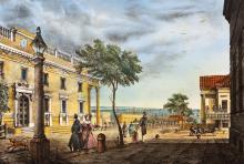 Театр, гравюра, 1837 г.