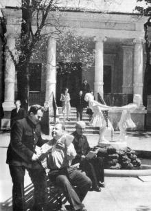 В доме отдыха моряков. Фотография в фотоочерке «Одесса», 1960 г.