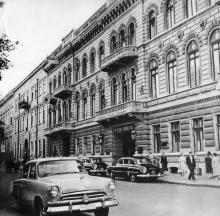 Гостиница «Одесса» на Приморском бульваре. Фотография в фотоочерке «Одесса», 1960 г.