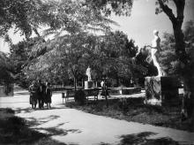 Одеса. Парк у Куяльнику. Фото Б. Левіта. Поштова картка 1939 р.