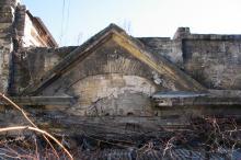 Фрагмент здания во втором дворе в доме № 19 по ул. Пушкинской. Фото Георгия Зозулевича. Ноябрь, 2004 г.