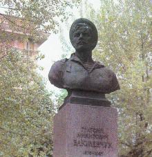 Бюст матроса Г.Н. Вакуленчука. Фото из набора открыток «Город-герой Одесса». 1978 г.