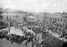Открытие памятника Екатерине II, фотограф И. Вайнштейн, 6 мая 1900 г.
