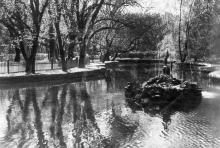 Одесса. Курорт. Пруд на Хаджибеевском лимане. Фото М. Гельфгата. Открытое письмо. 1938 г.