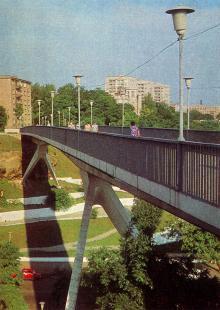 Одесса. Мост имени Жанны Лябурб. Фото Е. Света. Из набора открыток «Город-герой Одесса». 1978 г.