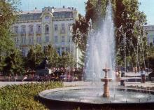 Одесса. Городской сад. Фото Е. Света. Из набора открыток «Город-герой Одесса». 1978 г.
