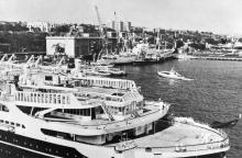 Одесса. Вид на город с моря. Открытка из комплекта «Одесса — Сплит». 1978 г.