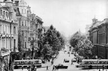 Одесса. Улица В.И. Ленина. Открытка из комплекта «Одесса — Сплит». 1978 г.