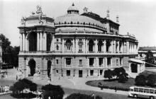 Одесса. Здание Государственного академического театра оперы и балета. Открытка из комплекта «Одесса — Сплит». 1978 г.