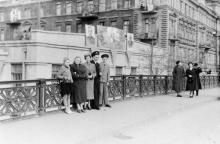 На мосту Коцебу. Одесса. Конец 1950-х гг.