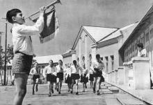 Пионерский лагерь «Молодая гвардия». Фотография в фотоальбоме «Одесса», 1965 г.