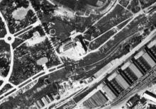 Аэросъемка парка Шевченко, стадион и ресторан. Фото предоставлено yangur. Август 1941 г.