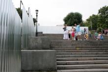 Ремонт Потемкинской лестницы. Фото В. Тенякова. Одесса. 29 июня 2016 г.