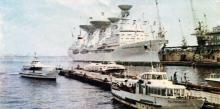 В порту. Фотография в буклете «Одесский ордена Ленина морской порт». 1970-е гг.
