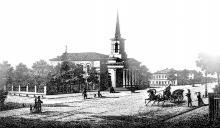 Старое здание Кирхи, литография из альбома 1869 г.