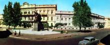 Пам,ятник «Повстання на броненосці «Потьомкін». Фото Т.Б. Бакмана. З комплекту панорамных листівок «Одеса», 1973 р.