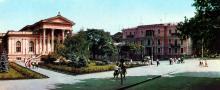 Будинок Археологічного музею. Фото Т.Б. Бакмана. З комплекту панорамных листівок «Одеса», 1973 р.