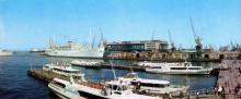 Морський вокзал. Фото З.А. Вишневського. З комплекту панорамных листівок «Одеса», 1973 р.