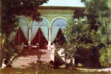 Їдальня санаторію ім. Чкалова. Фото з фотогармошки «Одеса курортна», 1958 р.