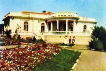 Їдальня санаторію «Примор,я». Фото з фотогармошки «Одеса курортна», 1958 р.