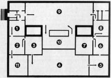 Схема осмотра экспозиции музея. Фото в путеводителе «Музей морского флота СССР», 1970 г.