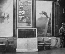 В зале № 7. Фото в путеводителе «Музей морского флота СССР», 1970 г.