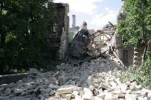 Обрушение «Масонского дома». Фото В. Тенякова. 20 июля 2016 г.