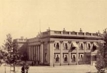 Биржа, фототипия С.В. Кульженко, 1900-е годы