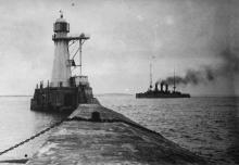 Турецкий крейсер «Хамидие» входит в Одесский порт. Июль, 1918 г.