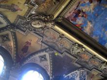 Фрагмент потолка зала бывшего Русского технического общества. Фотограф Виктор Баль. 2008 г.