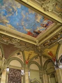 Фреска на потолке в зале бывшего Русского технического общества. Фотограф Виктор Баль. 2008 г.