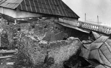 Фрагмент фонаря крыши после пожара