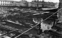 Интерьер крыши после пожара