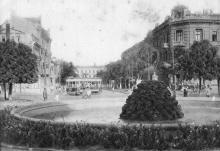 Соборная площадь, фонтан на месте первого фонтана