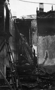 Вестибюль второго этажа после пожара