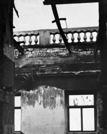 Комната на втором этаже после пожара