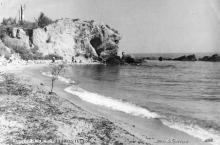Одесса. Малый фонтан (на самом деле — Аркадия). Пляж. Фото В. Пульвера. Почтовая карточка. По подписи 1950 г.