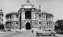 Одесса. Театр оперы и балета. Фотооткрытка, фотограф А. Вайсман, 1962 г.