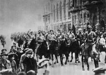 На открытке изд-ва «Планета» 1972 г. фотография вступления кавалерийской бригады Г.И. Котовского в Одессу 7 февраля 1920 г.
