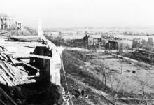 Разрушенная площадка ресторана на Приморском бульваре. Ноябрь, 1941 г.