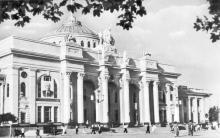 Одеса. Вокзал. Фото Я. Поволоцького. Поштова картка. 1955 р.