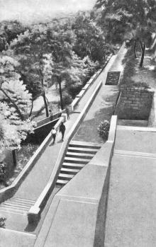 В Пионерском парке. Фото из буклета «Одесса. Приморский бульвар». 1965 г.